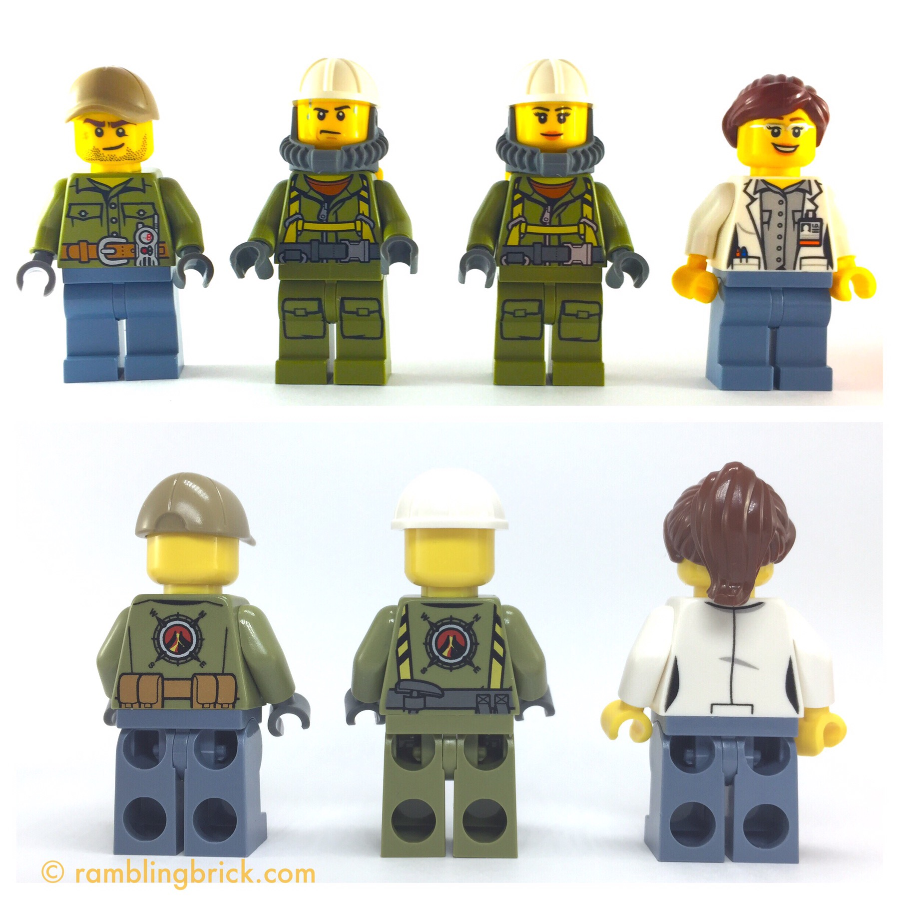 LEGO City new Scientist Mini Figure with crystal Female