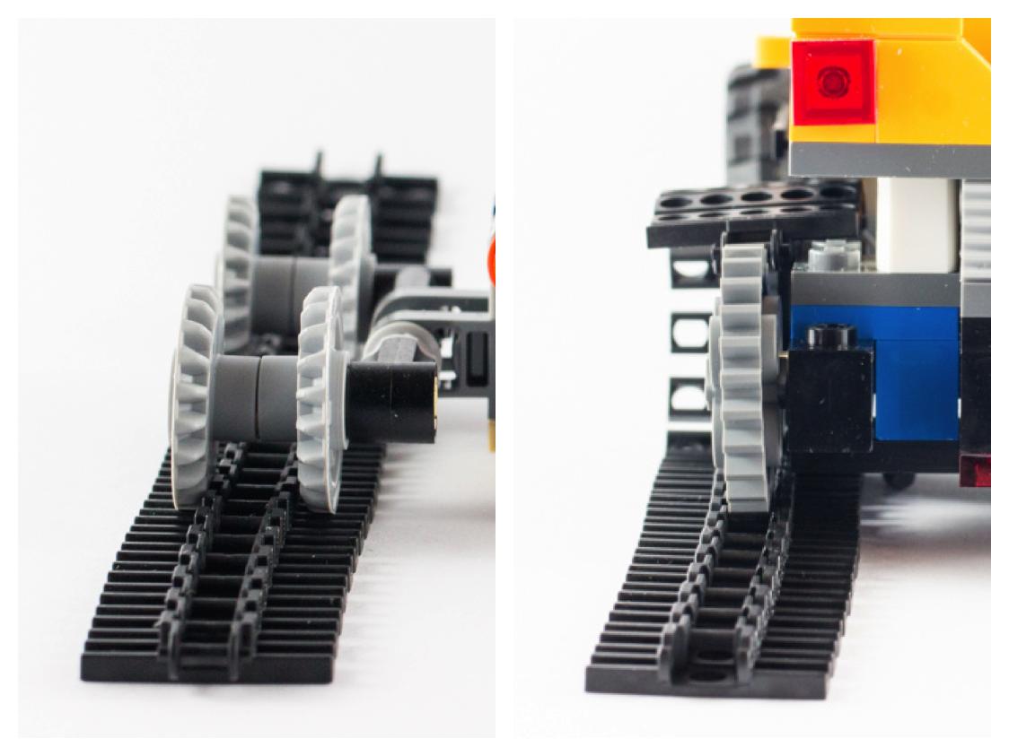 Lego Caterpillar Track Link Chain Tank Tractor Tread Grey x 25 Part