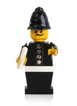 Early prototypes and first police minifigure-2