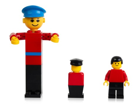 LEGO building figure from 1974, stage extra from 1975 and minifigure from 1978 (2)