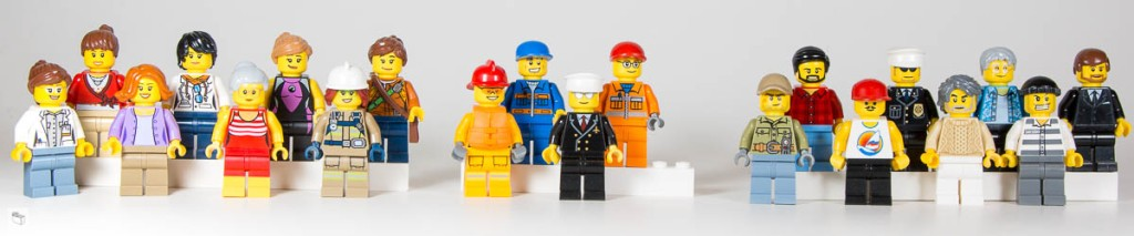 Lego ® City 20 Figurines Mini Figures all with hats and accessories
